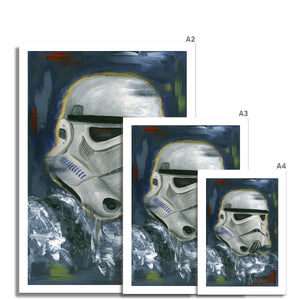 Star Wars Stormtrooper Portrait Fine Art Print of painting various sizes