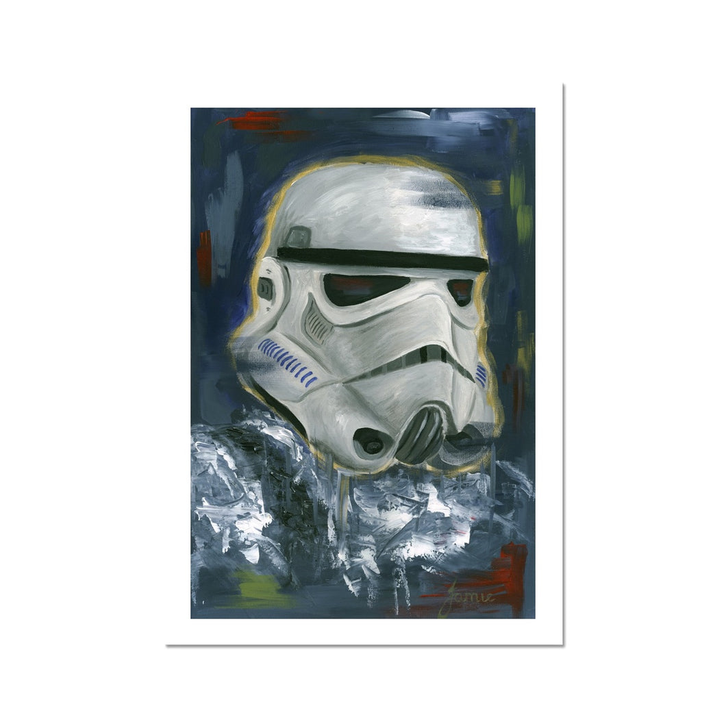 Star Wars Stormtrooper Portrait Fine Art Print of painting