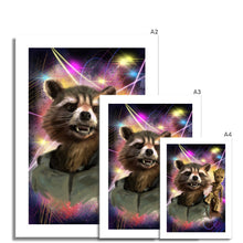 Load image into Gallery viewer, Rocket Raccoon and Baby Groot Portrait Fine Art Print