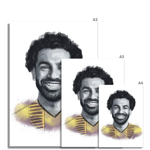 Liverpool footballer Mo Salah, Egyptian King Portrait Fine Art Print various sizes