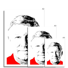 Load image into Gallery viewer, Manchester United football legend Sir Alex Ferguson Portrait Fine Art Print various sizes