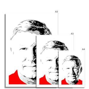 Manchester United football legend Sir Alex Ferguson Portrait Fine Art Print various sizes