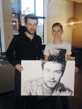 Load image into Gallery viewer, Jack Whitehall Portrait Fine Art Print (Original owned by Jack Whitehall)