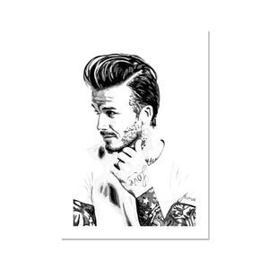 David Beckham Portrait Fine Art Print
