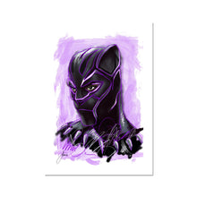 Load image into Gallery viewer, Black Panther Portrait Fine Art Print