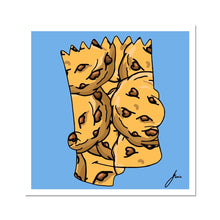Load image into Gallery viewer, Bart Simpson portrait with cookies fine art print