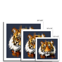 Load image into Gallery viewer, Tiger (Blue Background) Fine Art Print