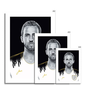 Harry Kane Portrait Fine Art Print