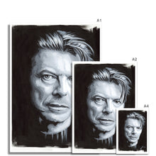 Load image into Gallery viewer, Musician David Bowie portrait fine art print various sizes