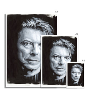 Musician David Bowie portrait fine art print various sizes