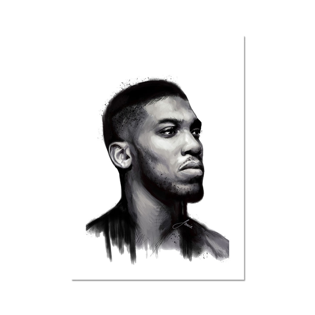 Anthony Joshua Portrait Fine Art Print