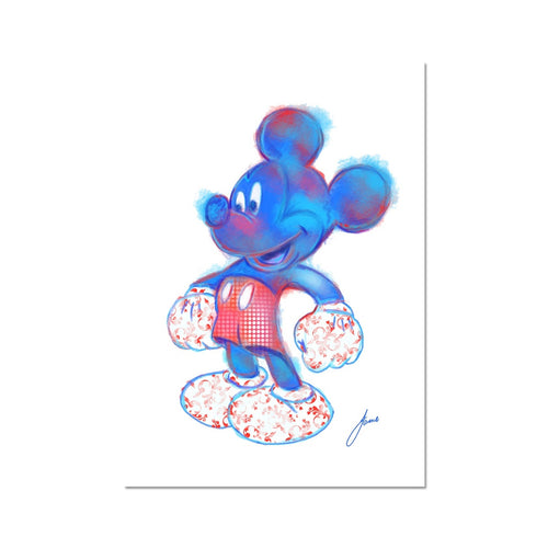 Abstract Mickey Mouse fine art print