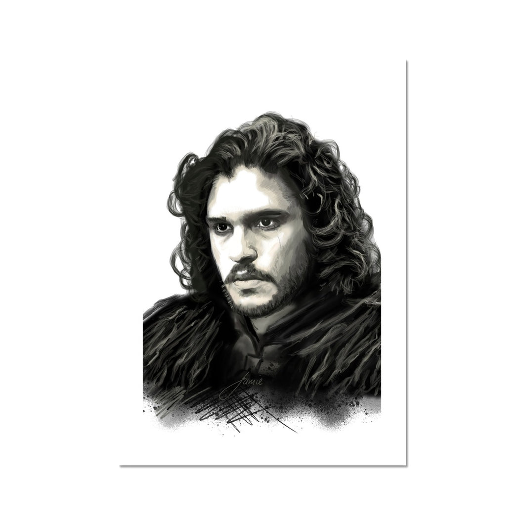 Jon Snow Portrait Fine Art Print