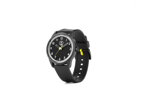 Q&Q Smile Solar Watch J018Y (Black Numerals dial on Black strap)
