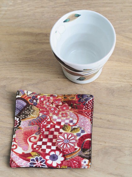 Ceramic Art- Floral Cups with placemats
