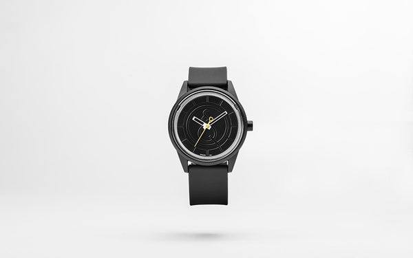 Q&Q Smile Solar Watch J002Y (Black dial on Black strap)