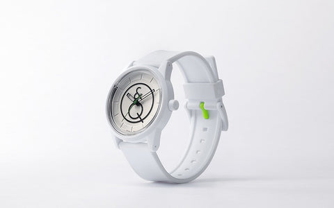 Q&Q Smile Solar Watch J016Y (White Dial with accentuated Logo on White strap)