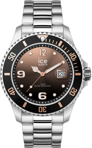 Ice Watch Horloge Ice Steel Black Sunset Silver 016 768 - Heren