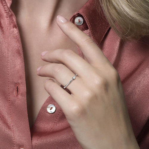 Blush Verlovingsring 200.322 - Wit Goud 14ct Zirkoon