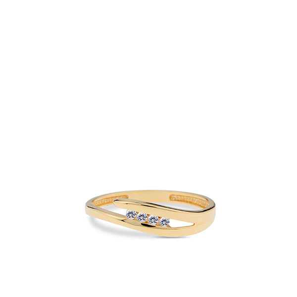 Swing Ring 200.715 Geel Goud 18ct Zirkoon