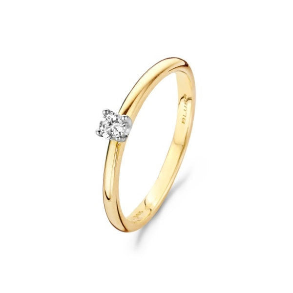 Blush Ring 200.708 - Bicolor Goud 14ct, Diamant 0,10ct