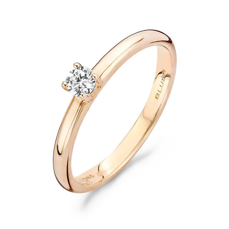 Blush Ring 210.093 - Rosé Goud 14ct Zirkoon