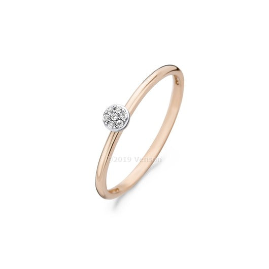 Blush Ring 210.104 - Rosé Goud 14ct, Zirkoon