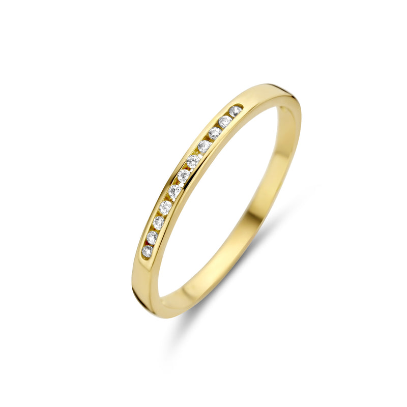 Joy & Julia Ring 210.187 - Geel Goud 14ct Zirkoon, Maat 55