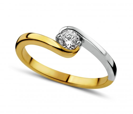 Dulci Nea Ring 160.870 Bicolor Goud 18ct Diamant 0,22ct