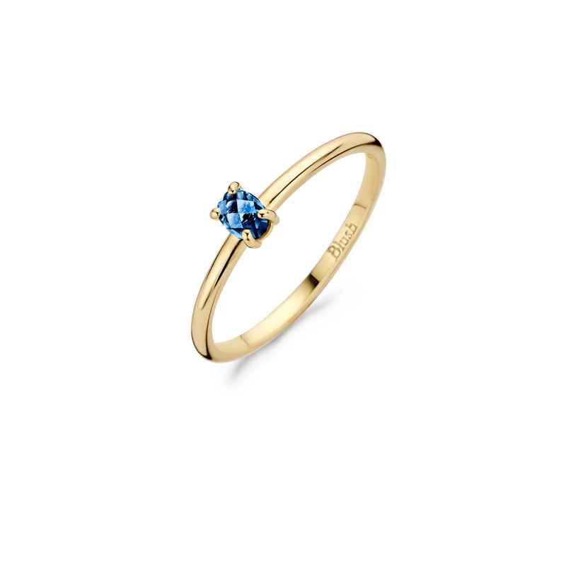 Blush Ring 200.439 - geel goud 14ct London Blue Topaas