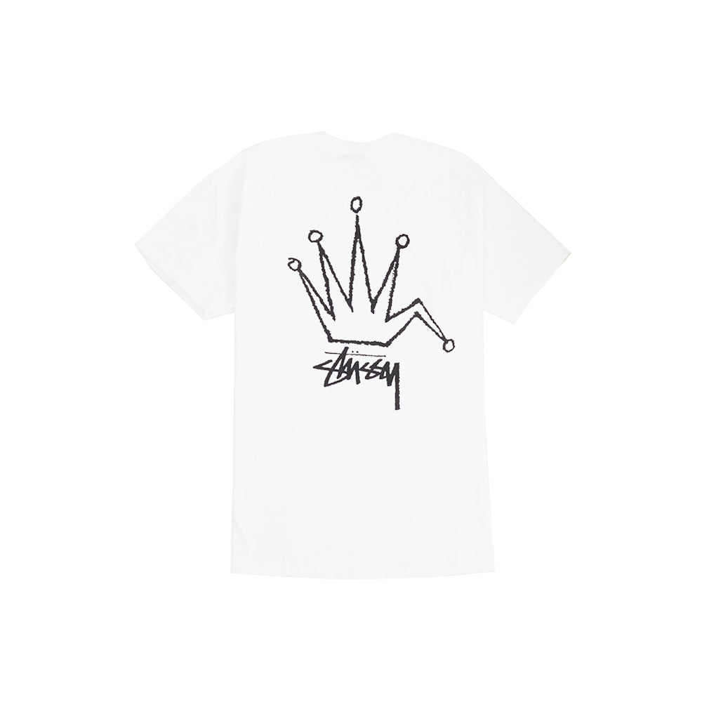OLD CROWN TEE IN WHITE