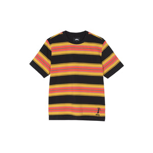 MULTI STRIPE CREW IN BLACK
