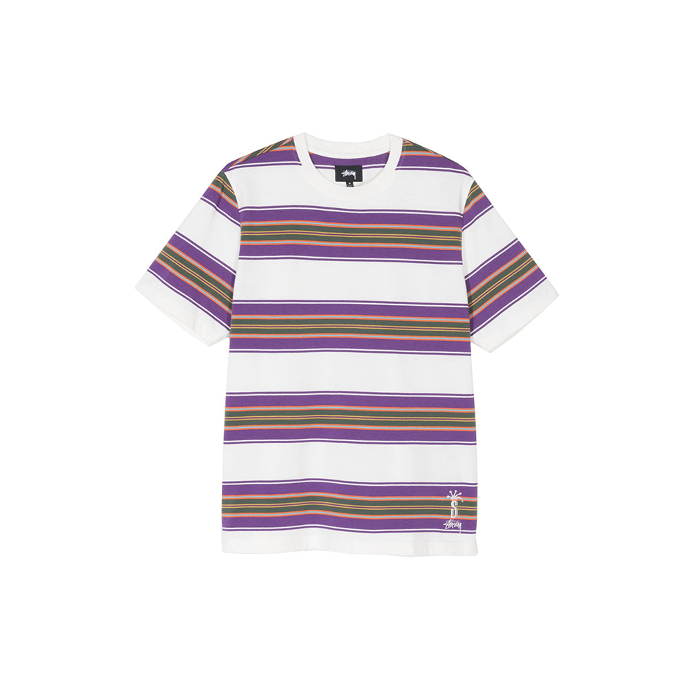 MULTI STRIPE CREW IN NATURAL