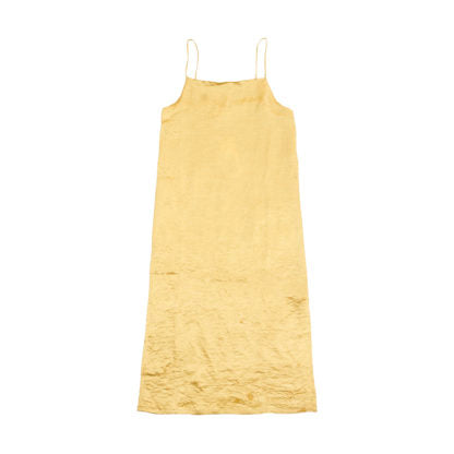 ACETATE DRESS IN YELLOW