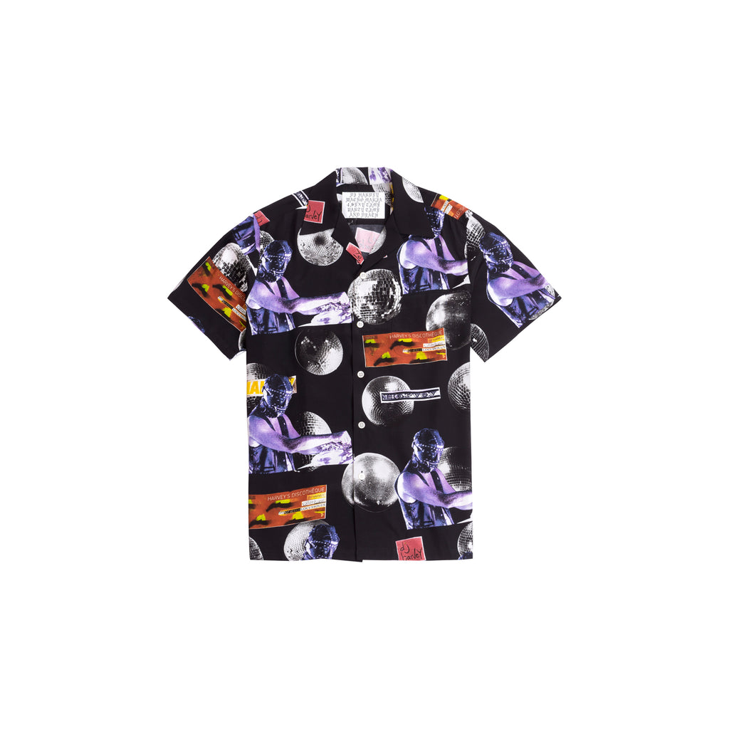 DJ HARVEY / S/S HAWAIIAN SHIRT IN BLACK