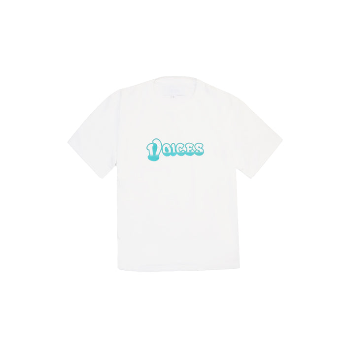VOICES MOTOR LOGO TEE IN WHITE