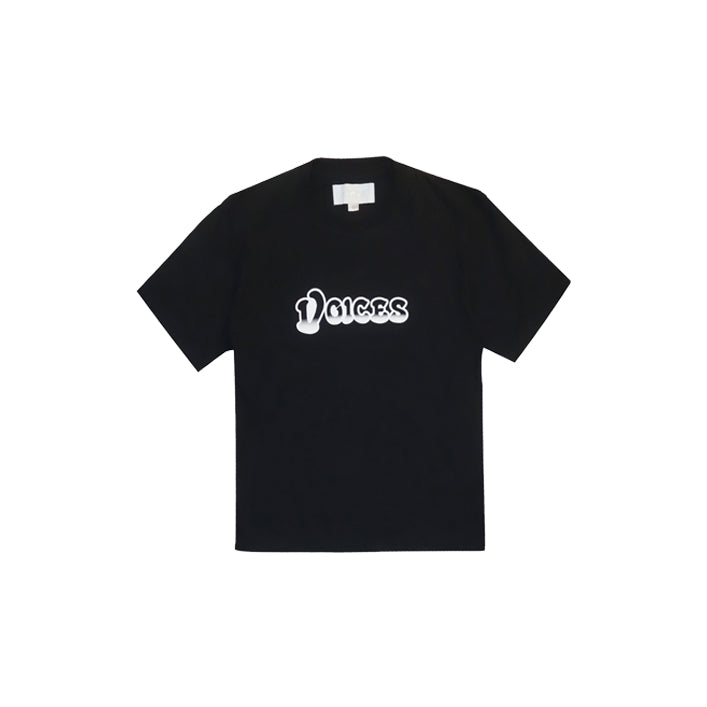 VOICES MOTOR LOGO TEE IN BLACK