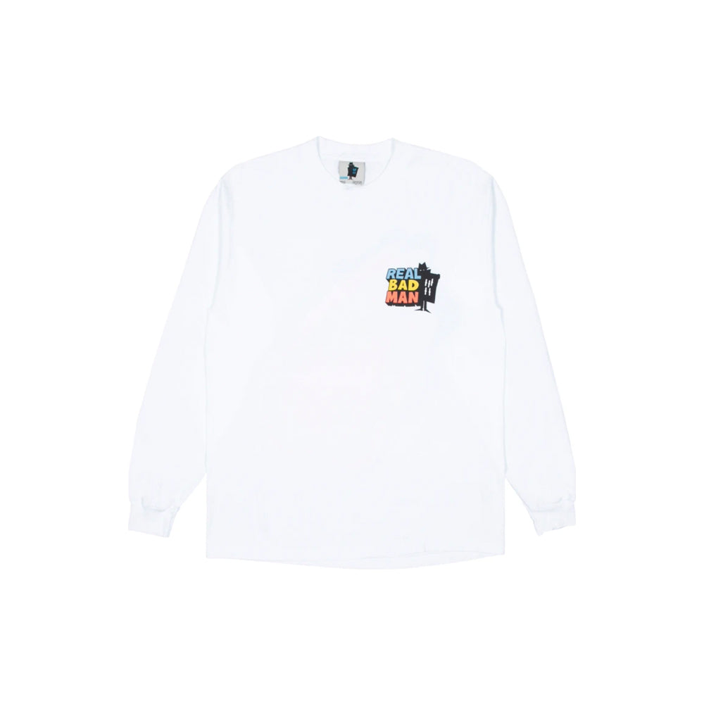 DRIVER LONG SLEEVE TEE IN WHITE