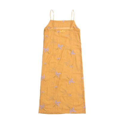 TENCEL DRESS IN YELLOW