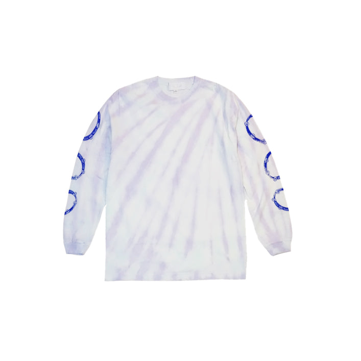 TAMBOURINE L/S TIE DYE IN PURPLE
