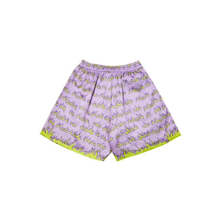 FLAME SHORTS IN PURPLE