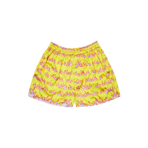 FLAME SHORTS IN YELLOW