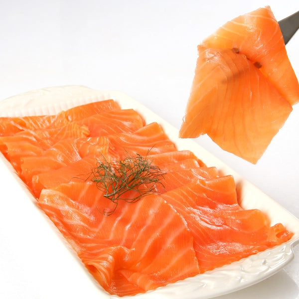 Plate of Wild King Smoked Salmon Lox