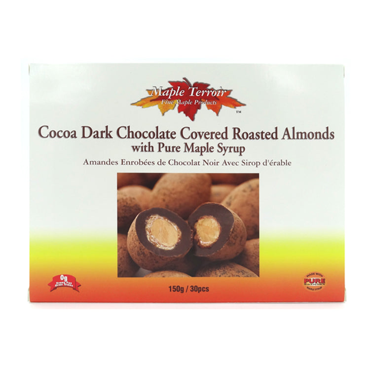 Cocoa Dark Chocolate Roasted Almonds with Maple Syrup Maple TerroirTerroir