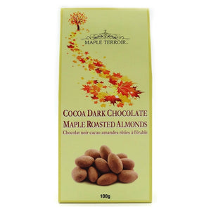 Cocoa Dark Chocolate Covered Maple Roasted Almonds 100g