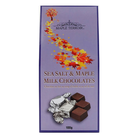 Sea Salt Milk Chocolates with Pure Maple Syrup Maple Terroir