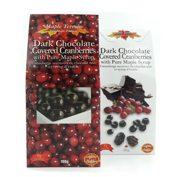 Dark Chocolate Covered Cranberries with Maple Syrup Maple Terroir