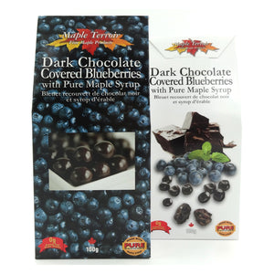 Dark Chocolate Covered Blueberries with Maple Syrup Maple Terroir