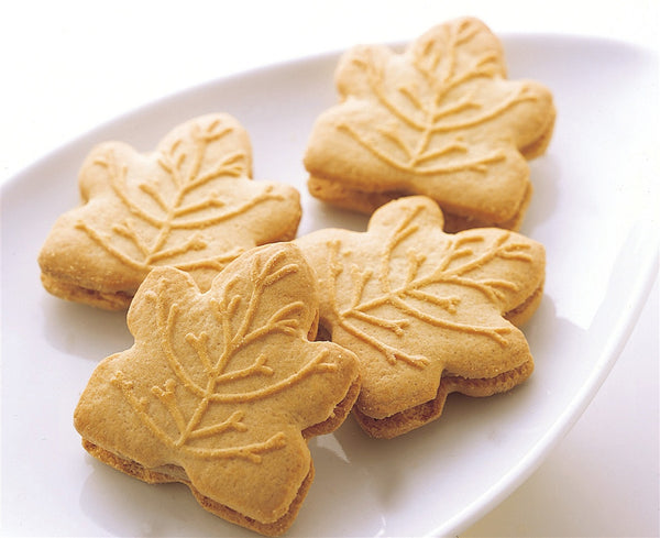 Maple Syrup Cream Cookies on a plate
