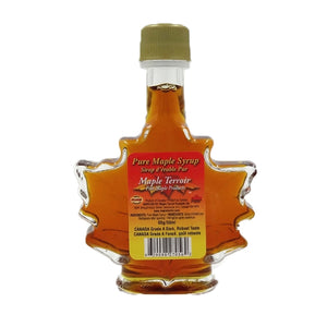 Pure Maple Syrup in 50ml Glass Maple Leaf Bottle Maple Terroir